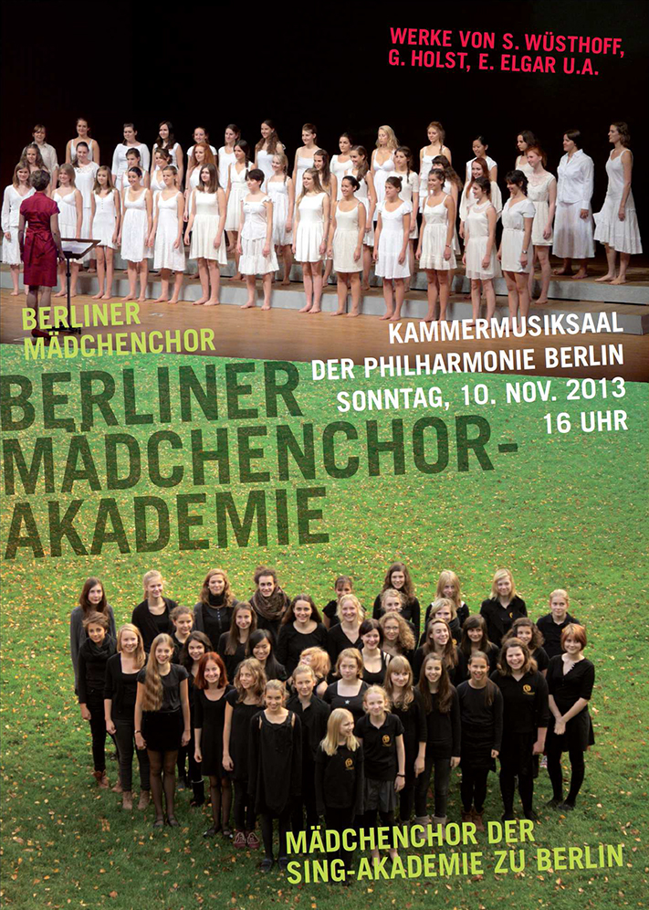 Berlin Girls' Choir Academy: Concert in the Berlin Philharmonic Nov. 10th 2013