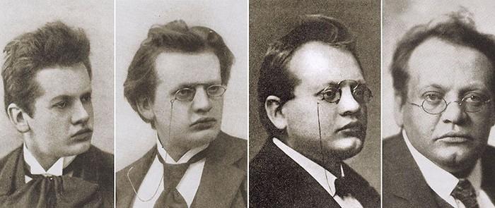 Max Reger (v.l.n.r.): 1890 Musikstudent, 1895 Klavierlehrer, 1907 Universitätsmusikdirektor, 1913 Hofkapellmeister